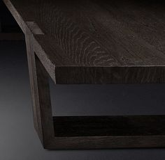 RH Modern's Antoccino Rectangle Coffee Table:Striking in its angularity, our collection celebrates the beauty of wood in its unadorned state. Designed by the Van Thiels, the table is crafted of American white oak hand-finished to highlight its warmth and rich grain.