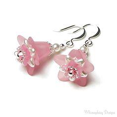 Pretty Pink Petticoat Swarovski Crystal & от whimsydaisydesigns