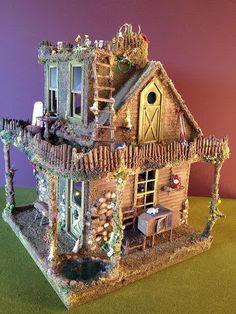 by Tori Carpenter www.torisaur.com - What an adorable fairy cottage