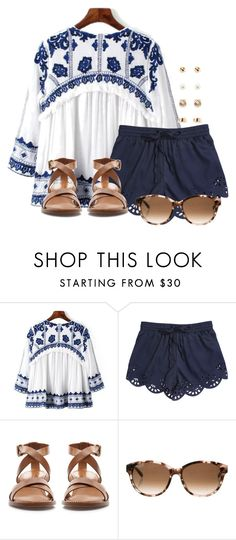 """I LOVE THIS SHIRT!!!!"" by flroasburn ❤ liked on Polyvore featuring Zara, Kate Spade and Forever 21"