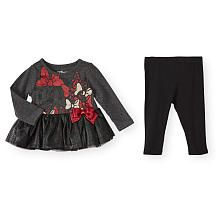 The cotton-blend construction of this skirted top and leggings set ensures a comfortable, stretchy fit on Baby for hours of Disney-inspired fun. Cute Princess, Princess Outfits, Disney Baby Clothes, Baby Disney, Disney Inspired, New Girl, Shirts For Girls, Dear Future, Model
