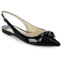 ef0f549cb38 Jimmy Choo Blare Patent Leather Slingback Flats ( 595) ❤ liked on Polyvore  featuring shoes