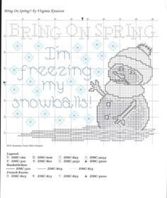 Bring on spring! I'm freezing my snowballs! -- free chart
