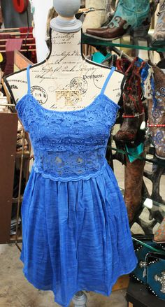 CUTE Denim blue lace A-line dress $32.95  2 Mediums & 2 Larges left! sold out of Small