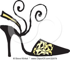 Shoes Clipart - Illustration by Steve Klinkel Shoes Clipart, Yellow High Heels, Free Printable Stationery, Fashion Clipart, Clip Art Pictures, Craft Images, Cinderella Shoes, Free Shoes, Black Models