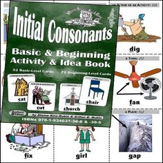 Basic Initial Consonants Level 1 Basic Activities & Idea Book With 52 Card Deck by 2LEARN-ENGLISH- http://ift.tt/28XrBuQ #2learnenglish #learnenglish #book #consonants