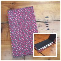 Floral Jotter Notebook with Attached Pencil