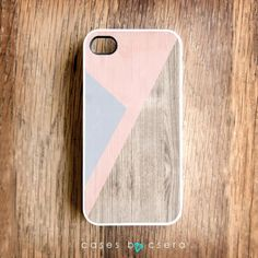 Wood Print iPhone 4 Case, Geometric Case From Cases By Csera. $24.99, via Etsy.