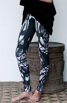 space leggings : leggings with print .