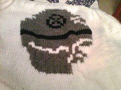 Death Star Blanket Knitting Projects, Knitting Patterns, Star Baby Blanket, Death Star, Love Stars, Dressmaking, Star Trek, Nerdy, Knit Crochet