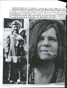 1970 Press Photo Janis Joplin as Young Girl and as Rock Star