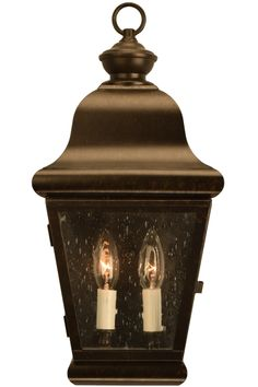 Miramonte Wall Sconce: Authentic handmade Spanish Colonial solid copper lantern outdoor lighting fixture made in the USA. Patio, Porch, Deck, Entry Wall Light