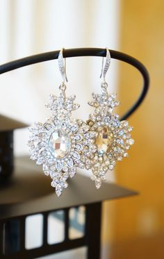 Wedding Jewels Crystal Drop Earrings Bridal by VintagePinch #etsy #instyle #ooak #style #styleblog #styleblogger #musthave #loveit #want ##nyblogger #momfashion #christmas #holidays #gifts #giftideas #handmade #whatiwore #blogger #fashion #fashionista #anthro #anthropologie #teacherstyle #bostonblogger #sfblogger #;ablogger #vogue #trendy #weddingblogger #new