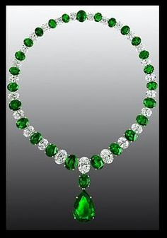 Graff emerald and diamond necklace