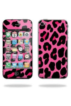 handhelditems.com mightyskins pink leopard decal cover skin: $7
