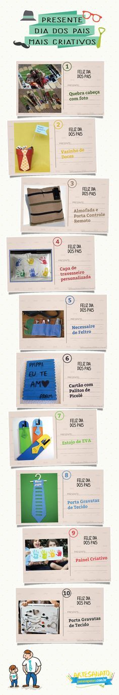 Para ver o post completo com as dicas de Presente para o Dia dos Pais, acesse: http://artesanatopassoapasso.com.br/presente-dia-dos-pais