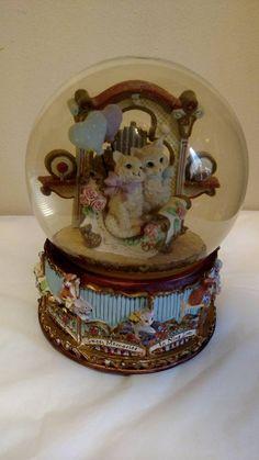"Vintage San Francisco Music Box Company Cat Nine Lives Snow Globe 9"" | eBay"