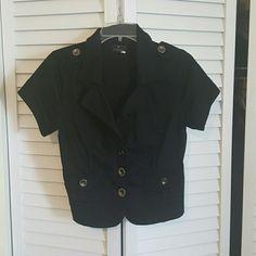 Black short sleeve jacket Good condition Ashley Jackets & Coats Utility Jackets