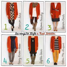 Tutor My Style~ Rust Sweater