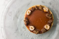 Andreevsky tart with caramel. Dessert menu by Restoranskie.