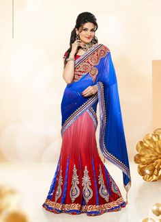 This #brilliant array will make you the #ultimate classic #beauty at the next event you attend. This blue fancy fabric and net a line #lehenga choli is including the #wonderful #glamorous showing the sense of cute and graceful. The #ethnic #embroidered and patch border work for the attire adds a sign of #magnificence statement with your look. Shop Now at http://buff.ly/1VppRzg Price : 7,245