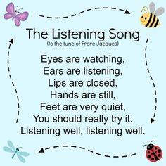 Kindergarten Songs, Preschool Music, Preschool Learning, Kindergarten Classroom, Preschool Activities, Teaching, Circle Time Ideas For Preschool, Transition Songs For Preschool, Classroom Games
