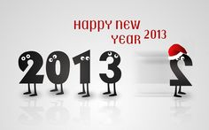Happy New Year 2013 Cartoon HD Wallpaper