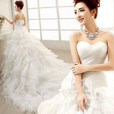 White/Ivory Organza Wedding Dress Bridal Gown Custom Size 6 8 10 12 14 16 18 20 in Clothing, Shoes & Accessories   eBay
