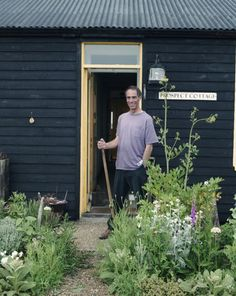 Derek Jarman in his garden