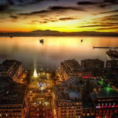 Sunset in Thessaloniki. Macedonia Greece, Athens Greece, Greece Thessaloniki, Greece Holiday, Travel And Leisure, Greek Islands, Greece Travel, Places To Visit, City
