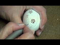 Victorian Lace Egg Carving Video from the Feathered Nest, Bishop Hill, IL - YouTube