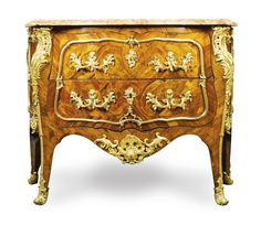 Kingwood and Marquetry commode Louis XV Circa 1740. In the manner of Bernadrd II Van Risen Burgh, BVRB | Sotheby's