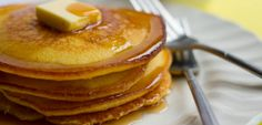 Try out a new pancake recipe! These cornbread pancakes are crispy on the outside and fluffy on the inside.