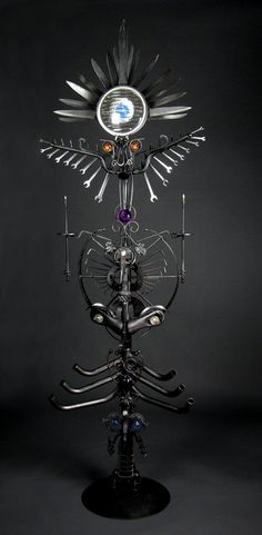 OptoTotem - welded steel sculpture by Jud Turner - copyright 2012
