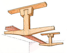 Overhead lumber storage rack [fw]: