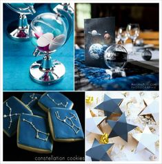 decoration mariage etoile contenant dragees globe cookies constellation