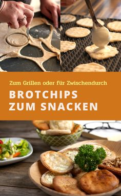 Die Brotchips sind eine kleine schnelle Alternative, wenn du spontan einen knusprigen Snack fürs Grillen oder für den Filmabend suchst. Dann brauchst du nur noch einen bunten Salat oder ein schönes Glas Wein und das Genießen kann losgehen. Das Rezept dazu findest du ab sofort auf meinem Blog www.brotaberlecker.de. Lasst es euch schmecken. Eure Anja Healthy Food, Healthy Recipes, Ab Sofort, Cereal, Breakfast, Party, No Yeast Bread, Finger Food Recipes, Breads