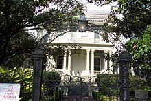Garden District, New Orleans: Known for its many well-preserved southern mansions.