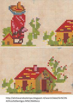 Cross Stitch Art, Cross Stitching, Cross Stitch Patterns, Crochet Patterns, Hippie Crochet, Plastic Mesh, Loom Bracelets, Mexican Style, Plastic Canvas