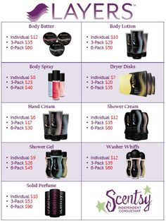 Layers by Scentsy---->Check it all out! So many options to choose from! :) http://jenniferscott.scentsy.us/