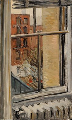 "Fairfield Porter  ""City Window""."