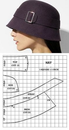 hat hat woman – katy Espineta – Join in the world of pin Hat Patterns To Sew, Clothing Patterns, Sewing Patterns, Turban Hut, Diy Hat, Fascinator Hats, Hat Making, Sewing Clothes, Hats For Women