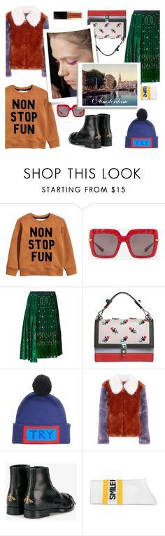 """""""Amsterdam travel"""" by lianafourmouzi ❤ liked on Polyvore featuring H&M, Dolce&Gabbana, Sacai, Fendi, LPA, Gucci and Joshua's"""