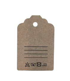 30 Large Kraft Tags tags textile Labelling by ChristianePaper, $10.00
