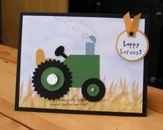 Punch Art Tractor by flowerbugnd1 - Cards and Paper Crafts at Splitcoaststampers