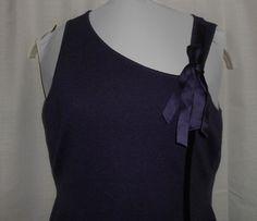 BANANA REPUBLIC Women Size M Medium SILK/CASHMERE Sleeveless Sweater Top Purple #BananaRepublic #VestSleeveless