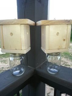 Two Carpenter Bee/Insect Traps..All Natural.Wood by HouseofSheib, $33.99