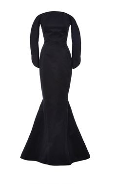 Duchesse Satin Off The Shoulder Gown by ZAC POSEN Now Available on Moda Operandi