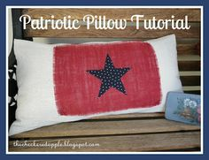 DIY Patriotic Pillow Cover