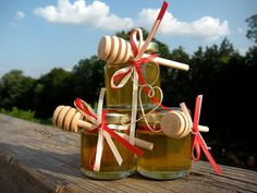 Wedding Honey Favors In Unique Jars Bridal Shower by JCBees, $119.50.....so cute!!!